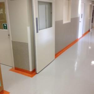 Medical Flooring Hallway